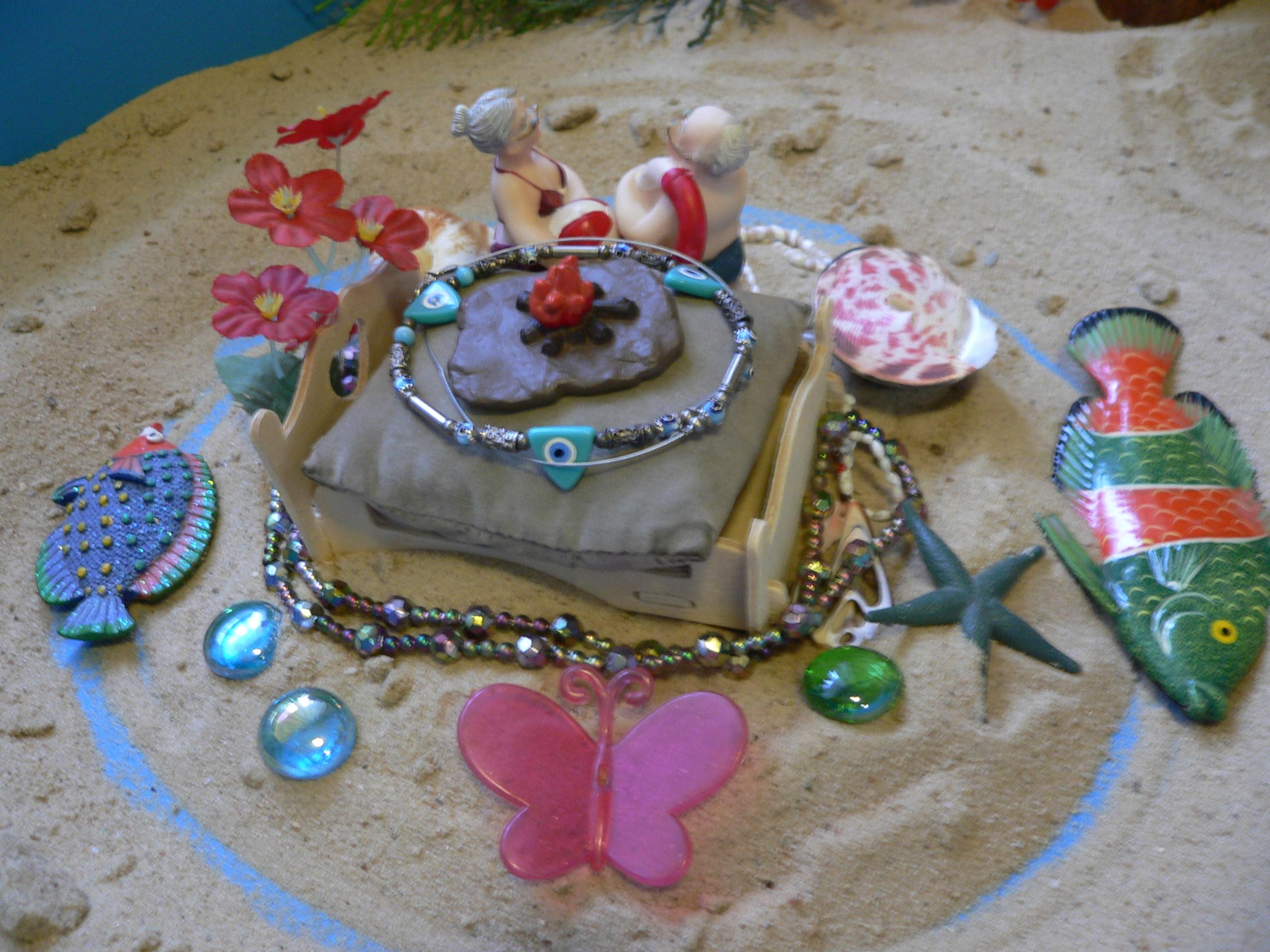 Юнгианская песочная терапия (Сэндплей) - пример песочной композиции. Запись к психологу, консультации психолога, поговорить с психологом